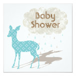 Blue Bambi Baby Shower Inviation Personalized Announcement