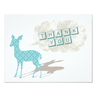 Blue Bambi Flat Thank You Card