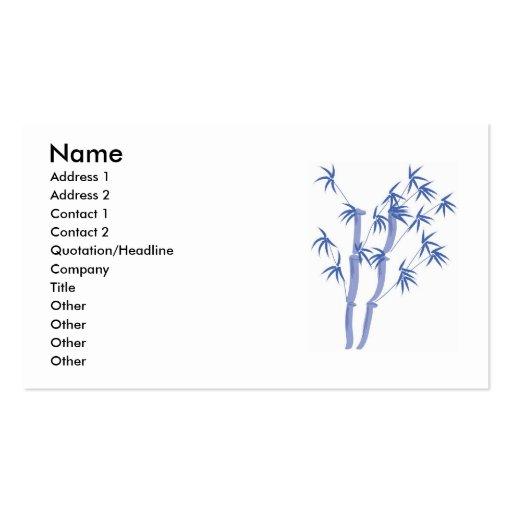 Blue bamboo business card