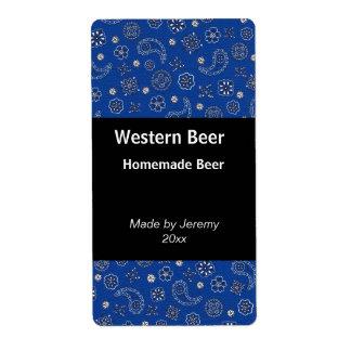 Blue Bandana Beer Label