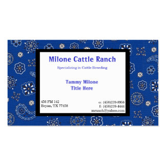 Blue Bandana Business Card