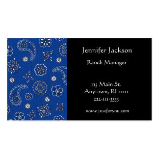 Blue Bandana Business Cards
