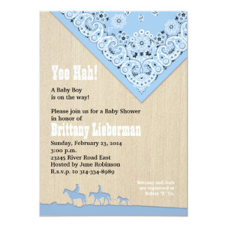 Blue Bandana Invitation