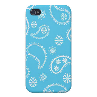 Blue Bandana iPhone 4/4S Cases