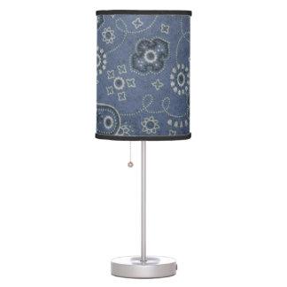 Blue Bandana Lamp