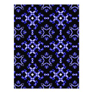 Blue Bandana Pattern Letterhead