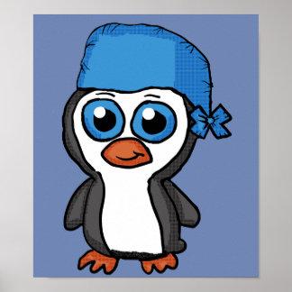 Blue Bandana Penguin poster