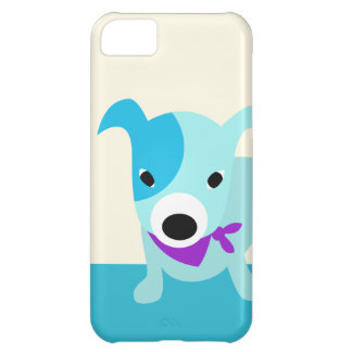 Blue Bandana Puppy Cover For iPhone 5C