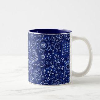 Blue Bandana Two-Tone Coffee Mug