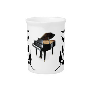blue banner piano drink pitcher