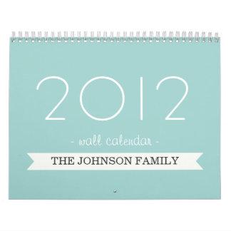 Blue Banner Your Photos 2012 Wall Calendar