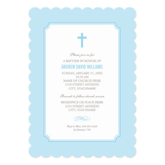 Blue Baptism Invitation | Baby Boy