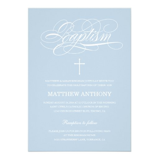 Personalized Traditional Christening Invitations