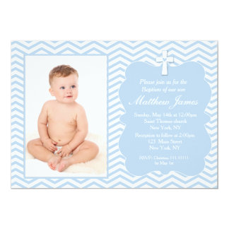 Blue Baptism invitations