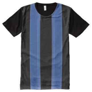 Blue bar All-Over print shirt