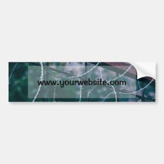 Blue Barb Wire Bumper Sticker