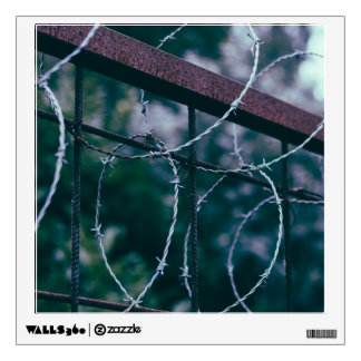 Blue Barb Wire Wall Decor