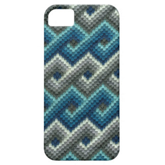 Blue Bargello Geometric Needlepoint iPhone 5 Cover