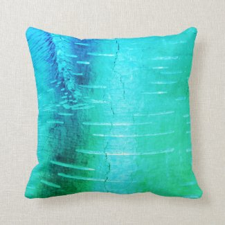 Blue Bark Photograph Throw Pillow