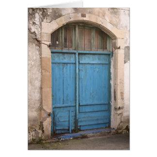 Blue Barn Door Card