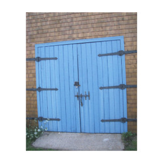 """Blue barn door Picture Canvas"" Canvas Print"