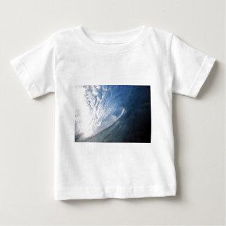 Blue barrel surfing wave interior view baby T-Shirt