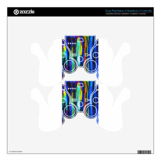 Blue Bars ( abstract expressionism painting) Decal For PS3 Controller