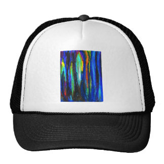 Blue Bars ( abstract expressionism painting) Trucker Hat