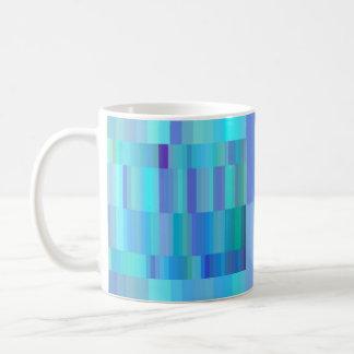 Blue Bars Classic White Coffee Mug