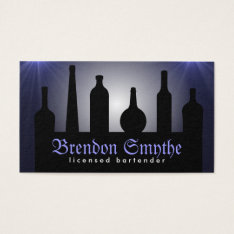 Blue Bartending Services Bartender Business Cards at Zazzle