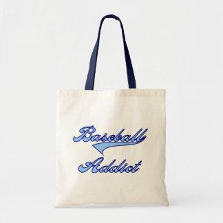 Blue Baseball Addict T-shirts and Gifts Canvas Bag