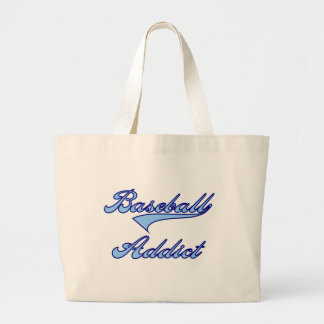 Blue Baseball Addict T-shirts and Gifts Canvas Bags