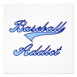 Blue Baseball Addict T-shirts and Gifts Custom Invitations