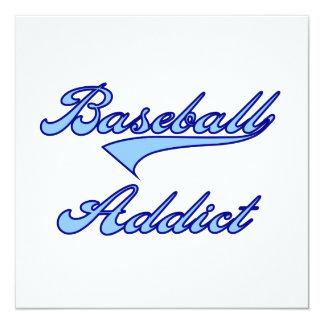 Blue Baseball Addict T-shirts and Gifts Invitation