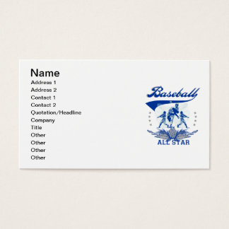 Blue Baseball All Star 2 T-shirts and Gifts Business Card