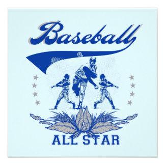 Blue Baseball All Star 2 T-shirts and Gifts Invitation