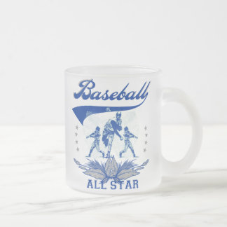 Blue Baseball All Star 2 T-shirts and Gifts 10 Oz Frosted Glass Coffee Mug