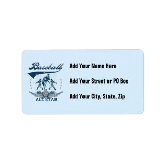 Blue Baseball All Star T-shirts and Gifts Label