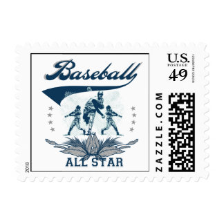Blue Baseball All Star T-shirts and Gifts Postage Stamp
