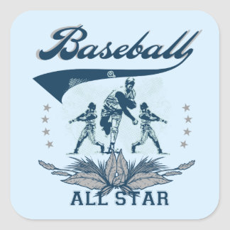 Blue Baseball All Star T-shirts and Gifts Square Sticker