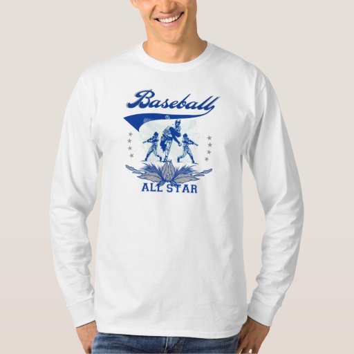 Blue baseball all star tshirts and gifts zazzle for All star t shirts
