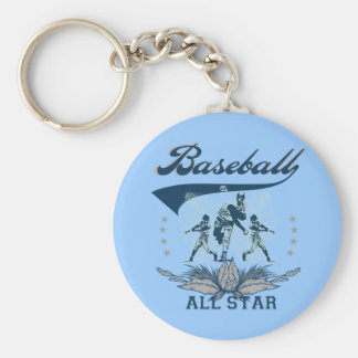 Blue Baseball All Star TShirts and Gifts Keychain