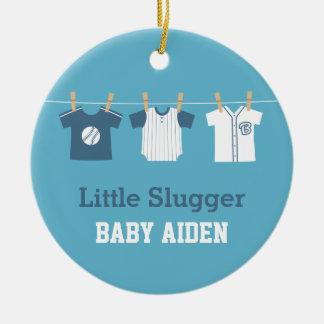 Blue Baseball Baby Boy Nursery Decor Ceramic Ornament
