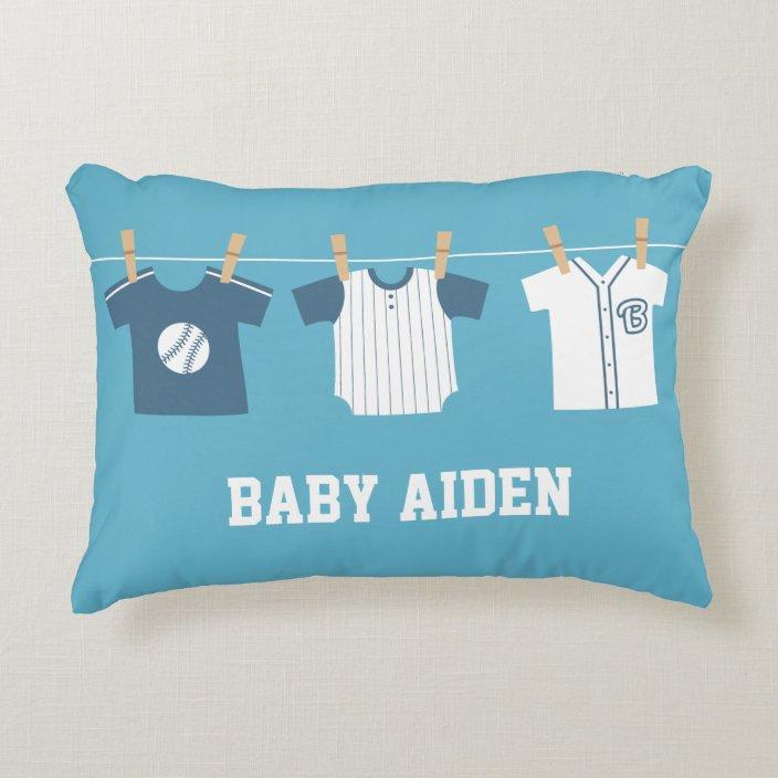 Baseball Baby Boy Nursery Decor Pillow