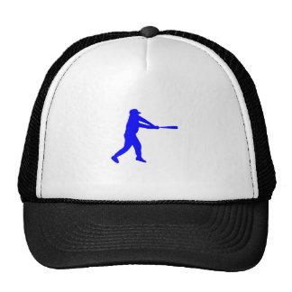 Blue Baseball Batter Silhouette Hat