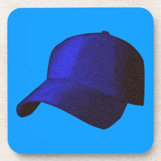 BLUE BASEBALL CAP GRAPHICS DRINK COASTERS
