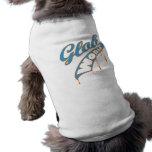 Blue Baseball Dog Tee