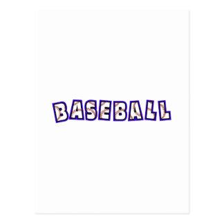 Blue Baseball Logo Postcard