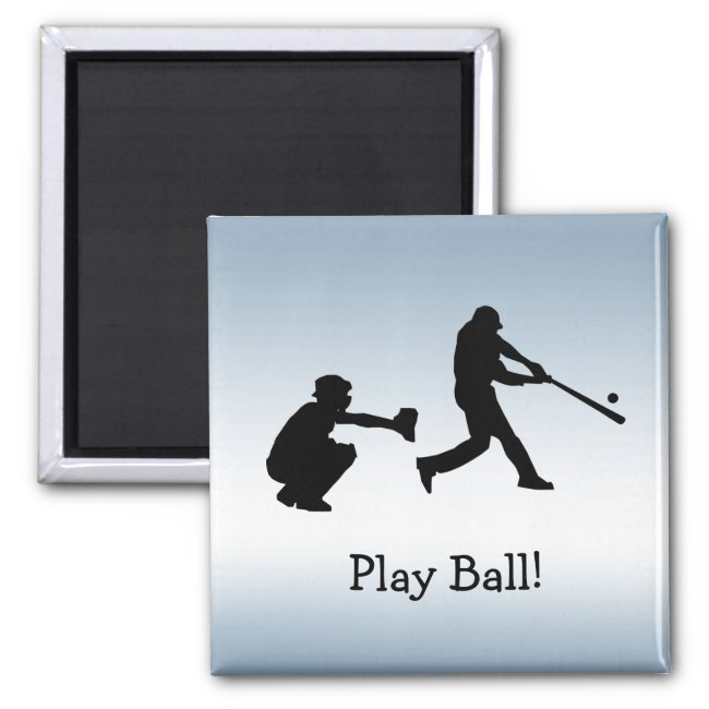 Blue Baseball Play Ball Sports Magnet