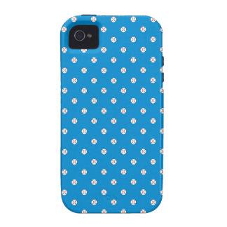 Blue Baseball Polka Dots iPhone 4/4S Covers